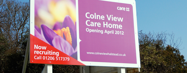 roller banners signage care uk board