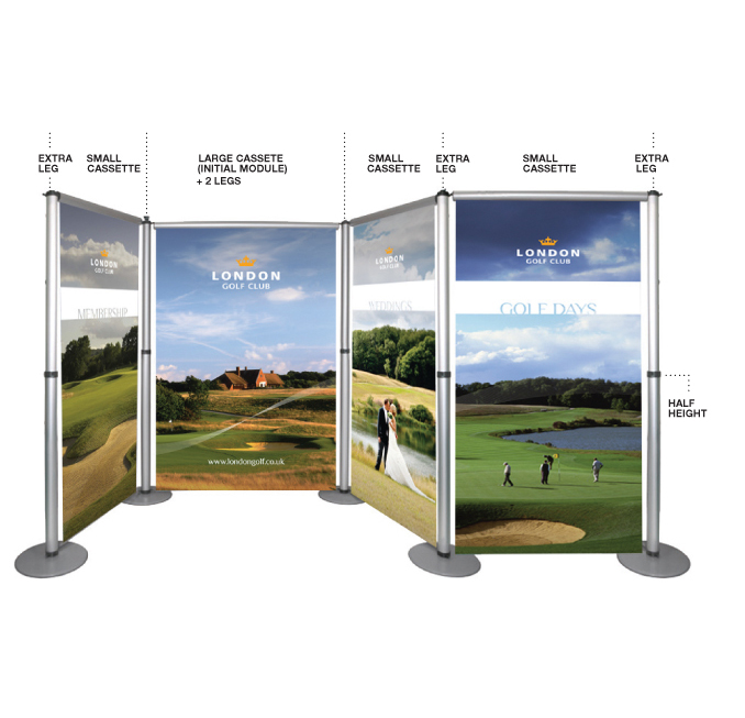 Modular Exhibition Stands Out : Aero modular display stands roller banners